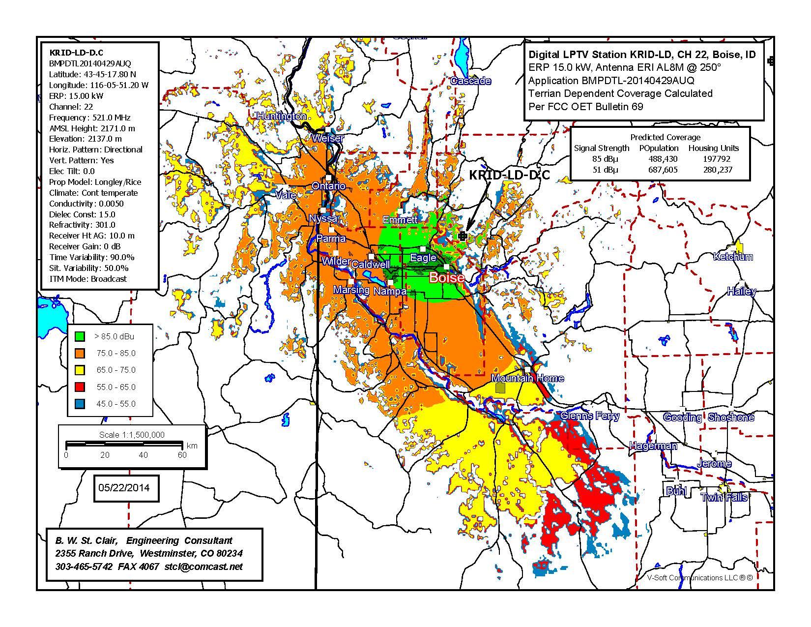 Map – Idaho TV 22